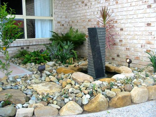 striking water feature